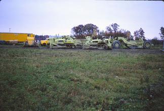Photo: Heavy equipment used to build Lake Roaming Rock