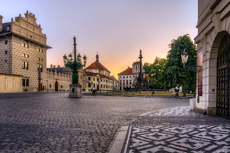 Photo: *The main square of Prague Castle*