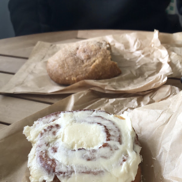 Cinnamon roll and apple cinnamon scone