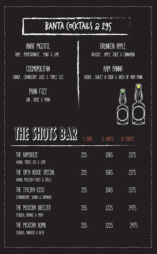 Open House menu 5