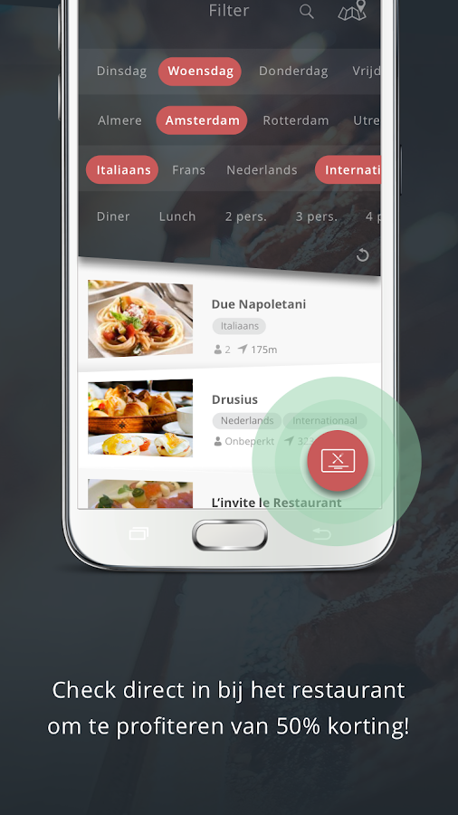 Restaurant Kaart- screenshot