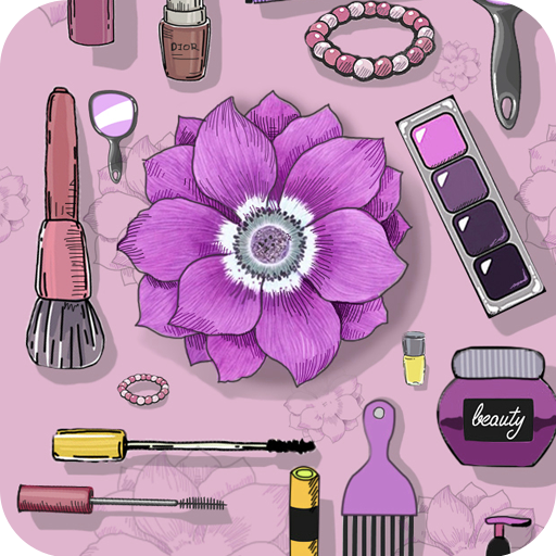 Stylish girl theme with Aesthetic Purple fashion