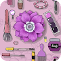 Stylish girl theme with Aesthetic Purple fashion APK icon