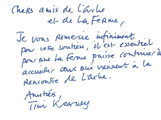 Mot manuscrit La Ferme
