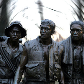 Vietnam War Memorial by Jud Joyce - Buildings & Architecture Statues & Monuments ( washington d.c., memorials, statues, vietnam, war )