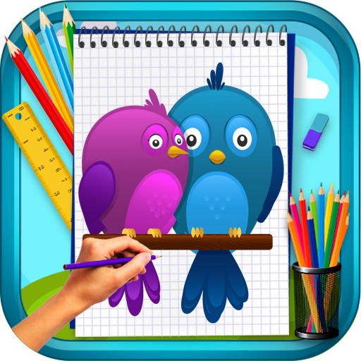 Learn To Draw Cute Birds Applications Sur Google Play