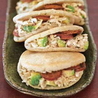 Chicken and Chorizo Arepas with Chimichurri