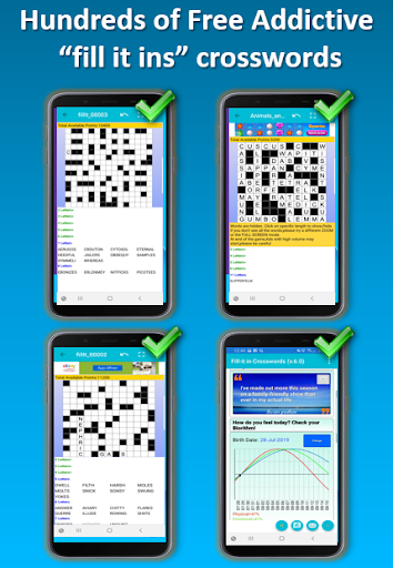 Words Fill in puzzles - Kriss Kross crossword game 6.9 screenshots 1