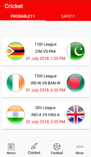 Try11 - Dream11 Predictions Cricket & Football 1.1 screenshots 1