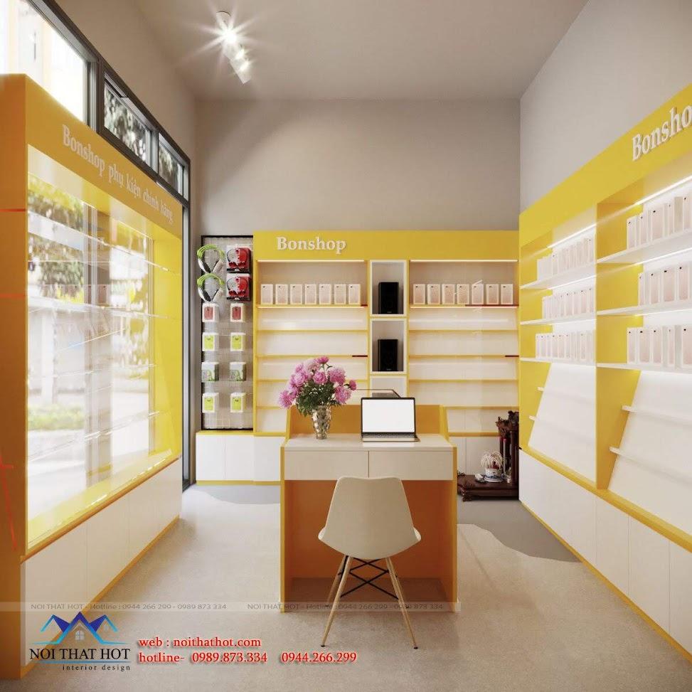 mẫu cửa hàng phụ kiện công nghệ