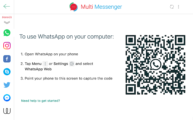 Multi Messenger for WhatsApp Web