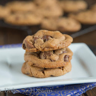 Malted Double Chocolate Chip Cookies.