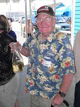 Photo: Dick Vivian showing off his original Interdata Cultural Society drinking pitcher