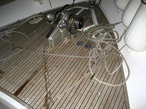 Photo: Halatları kesince... Cutting the ropes...