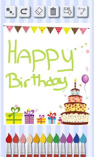 デザイン誕生日カード