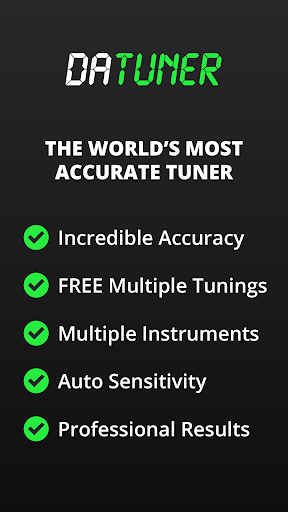 Guitar Tuner, Bass, Violin, Banjo & more | DaTuner 3.105 screenshots 1