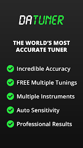 Guitar Tuner, Bass, Violin, Banjo & more | DaTuner 1