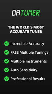 Guitar Tuner, Bass, Violin, Banjo & more | DaTuner Screenshot
