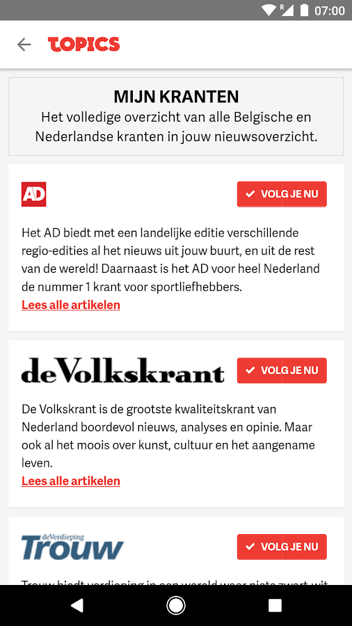 Topics NL- screenshot