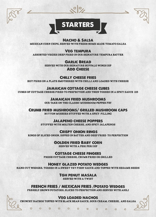 The Grill House menu 1