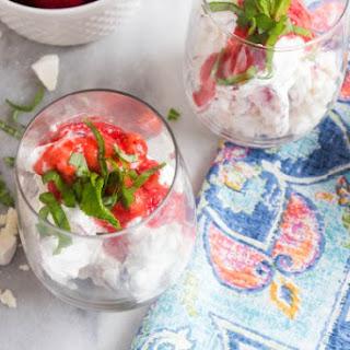 Strawberry Basil Eton Mess.
