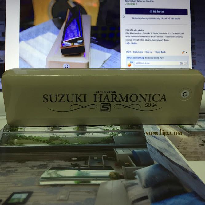 Kèn Harmonica - Suzuki 2 Timer Tremolo SU-24 (key C)