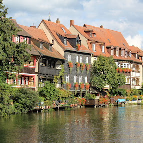 Bamberg Germany by Ashley Rolland - City,  Street & Park  Vistas ( water, building, skyline, bamberg, germany, architecture, homes, historic, river,  )