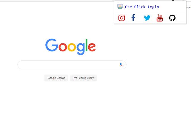 One Click Login - popular social media