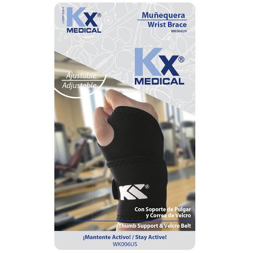 munequera neopreno kx soporte del pulgar y correa de velcro Producto elaborado con neopreno. ¡Conoce la amplia línea de productos en soporte terapéutico que KX Medical trae para ti!