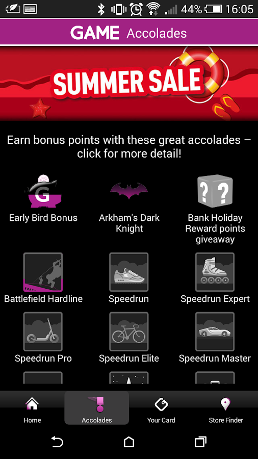 GAME Reward Mobile App- screenshot