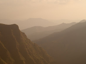 Photo: sunset near Sankaber camp in Simien Mountains National Park