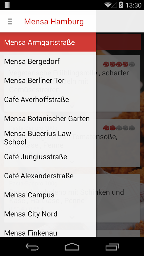 Mensa Hamburg- screenshot