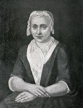 """Photo: Anna Dassen (1707-1794) op 47-jarige leeftijd, geschilderd door W. Lubbers in 1754. Zij was in 1734 gehuwd te Groningen met Abel Viëtor. Zelf kwam ze uit Assen. Zij behoren tot mijn voorouders. De afbeelding is afkomstig uit """"Het geslacht Viëtor"""" uit 1910."""