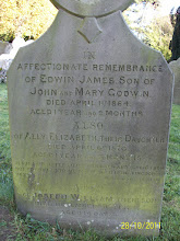 Photo: 26-Edwin James, son of John & Mary Godwin, died April 1st 1864, aged 1 year 9 monthsAlly Elizabeth, daughter, died April 6th 1870, aged 1 year 3 monthsJoseph William, son, died December 30th 1873, aged 14 days