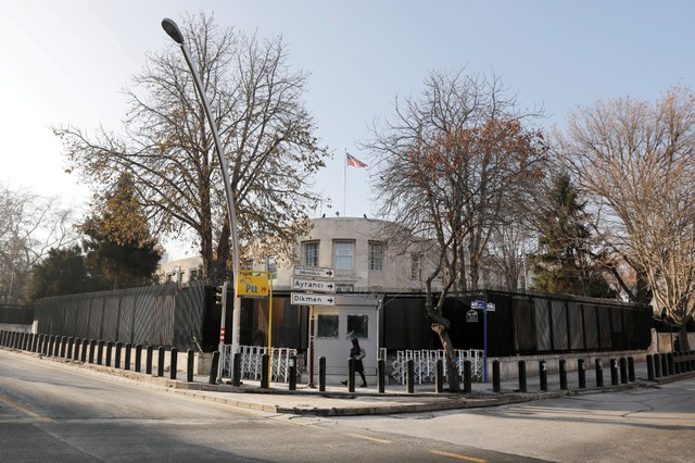 General view of the US Embassy in Ankara, Turkey.