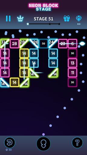 Code Triche Bricks Breaker Neon 9 mod apk screenshots 5