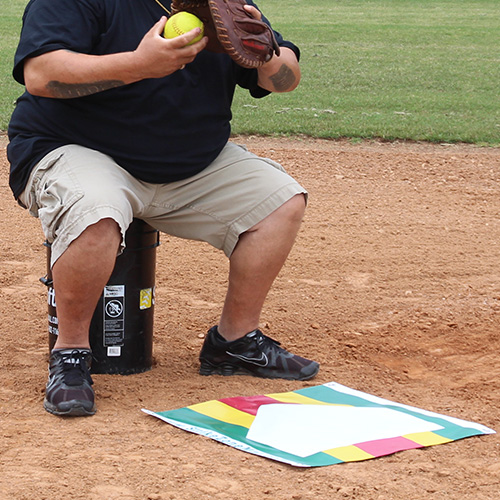 The Strike Zone Mat Pitching Aid & Trainer