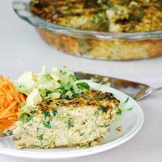 Cabbage, Rosemary And Broccoli Quiche