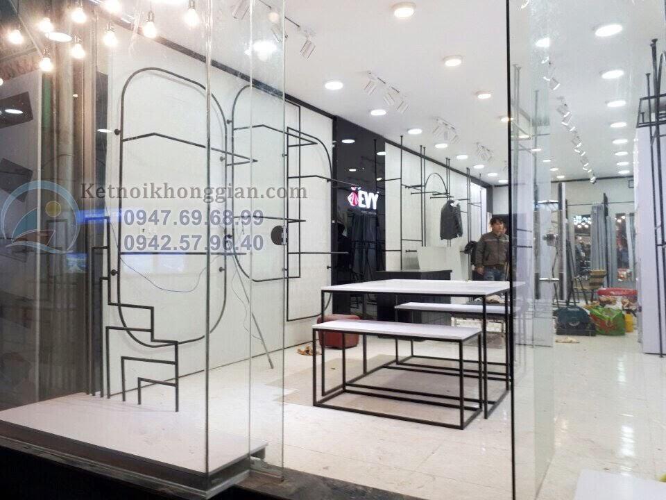 thiết kế nội thất shop thời trang công sở
