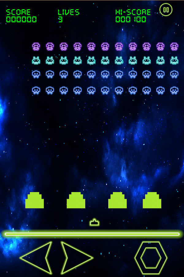 Glowing Invaders- screenshot