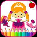 Princess Kids Coloring Book icon