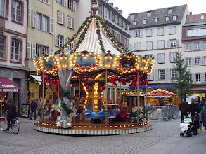 Photo: A carousel in the Market.