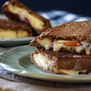 Apple, Onion & Sharp Cheddar Grilled Cheese Sandwich.