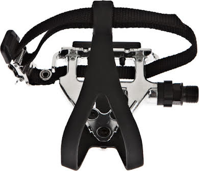 Wellgo LU-961 Road Pedals Silver with Clips & Straps alternate image 5