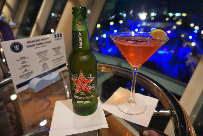 Share drinks with a friend at the Diamond Lounge on Majesty of the Seas.