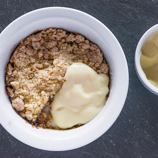 Bramley Apple and Quince Crumble.