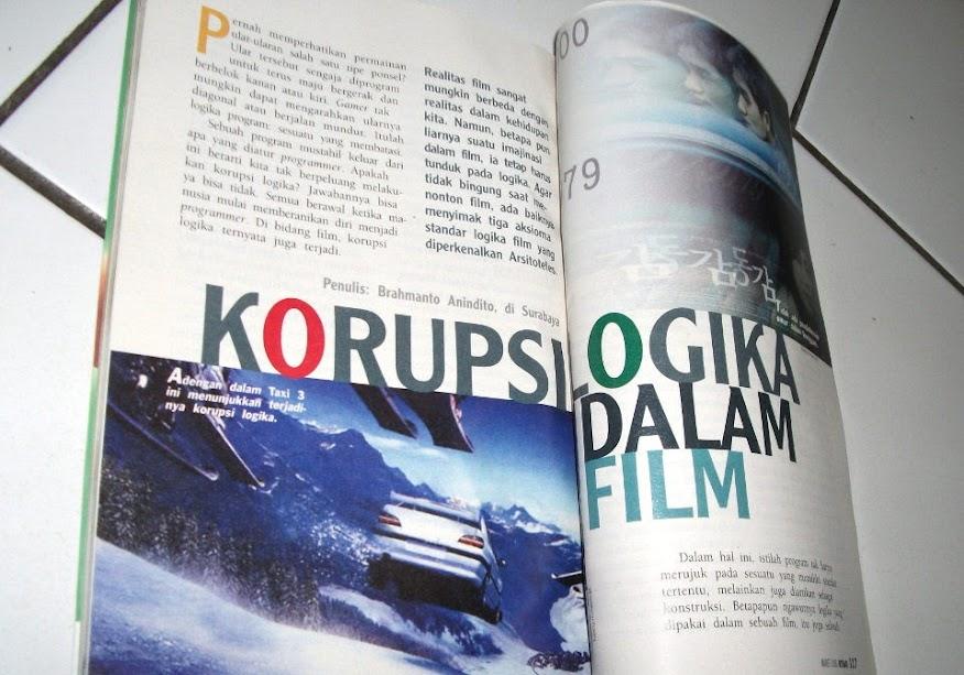 Artikel Korupsi Logika dalam Film, Majalah Intisari edisi 512 (Maret 2006), Rubrik Warna, halaman 116-122