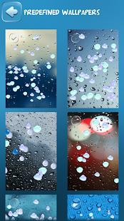 Скачать живых обои для андроид капли дождя