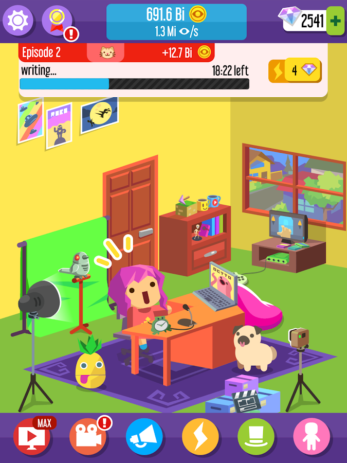 Screenshots of Vlogger Go Viral - Clicker for iPhone