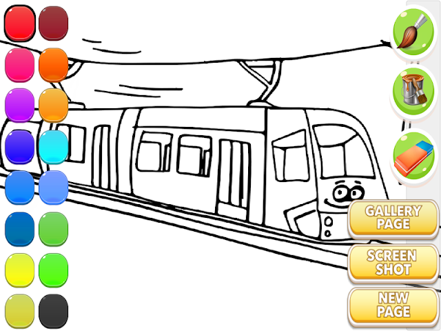 android Train Coloring Book Screenshot 9